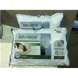 Pair Of Sleep For Success Queen Size Pillows