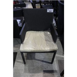OUTDOOR PATIO CHAIR WITH CUSHION