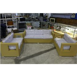 THREE PIECE PATIO SET INCLUDING SOFA + TWO LOVE SEATS