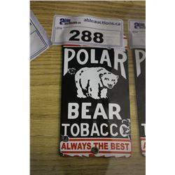 POLAR BEAR TOBACCO TIN SIGN REPRODUCTION