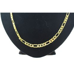"""MENS 24"""" 18K GOLD CLAD FIGARO STYLE NECKLACE"""
