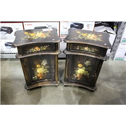 2 HAND PAINTED END TABLES