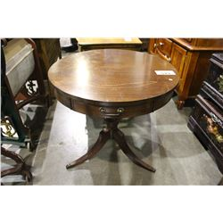 MAHOGANY 1 DRAWER OCCASIONAL TABLE
