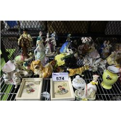 SHELF LOT OF COLLECTABLES