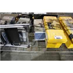 SHELF LOT OF 5 TOOLBOXES AND CONTENTS