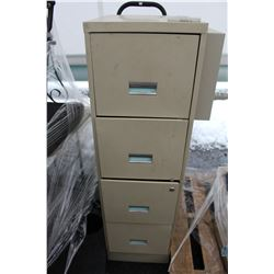 4 DRAWER STEEL FILING CABINET WITH DOLLY