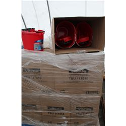 PALLET OF RED BUCKETS