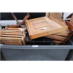 ROLLING BIN FULL OF COLLECTABLES (BIN NOT INCLUDED)