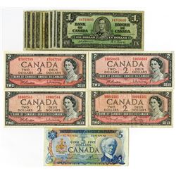 Bank of Canada, 1950-1972 Banknote Quintet.