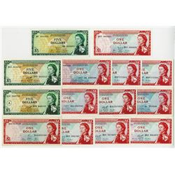East Caribbean Currency Authority, ND (1965) Banknote Assortment.