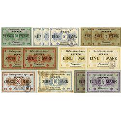 German Notgeld Accumulation of 14 pieces, ca.1916-1918.