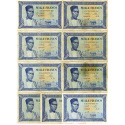 Banque De La Republique du Mali, 1960 Issue Banknote Assortment.