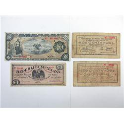 Mexican Revolutionary ca.1913-15 Banknote Assortment.