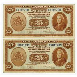 Nederlandsche-Indie, 1943 Issue Banknote Pair.