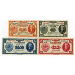 Nederlandsch-Indie, 1943 Banknote Quartet.