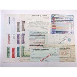 European and U.S. Traveler's check Assortment ca. 1940-1970's.