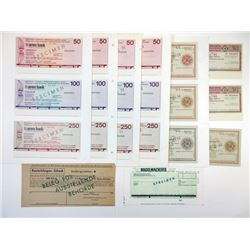 European Traveler's check assortment ca. 1940-1970's.