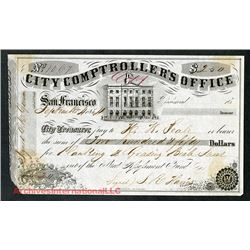 City Comptroller's Office, 1854 Warrant.