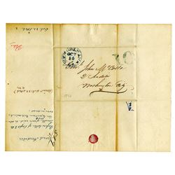 New Orleans, Louisiana 1846 Stampless Cover addressed to General John McCalla.