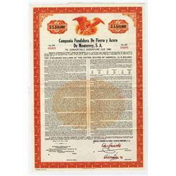 Compania Fundidora de Fierro y Acero de Monterrey, S.A., 1966 Specimen Bond