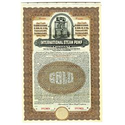 International Steam Pump Co., 1909 Specimen Bond