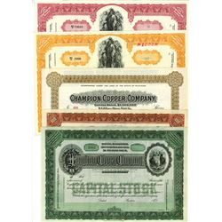 Assortment of Mining Stock Certificates, ca.1930-1970