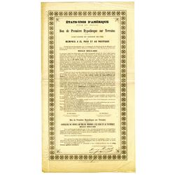 Memphis, El Paso and Pacific Railroad Co., 1868 Issued French Bond