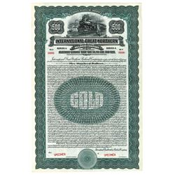 International-Great Northern Railroad Co., 1922 Specimen Bond
