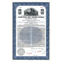 International-Great Northern Railroad, 1949 Specimen Bond.