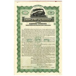 Bartlett-Florence Railway Co., 1909 Issued Bond