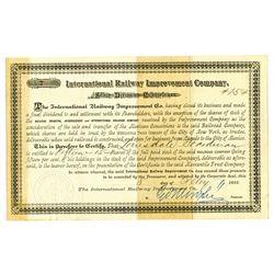 International Railway Improvement Co., 1883 Dividend Certificate