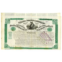 Memphis, El Paso and Pacific Rail Road Co., 1868 Issued Bond