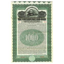 Chesapeake and Ohio Railway Co., 1909 Specimen Bond
