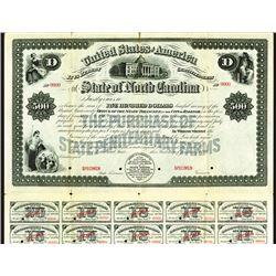 State of North Carolina, 1899 Specimen Bond.