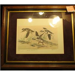 "Print #35/750 ""Iowa Duck Stamp Design-1979"" by Andrew Peters,  17 1/2"" x 21 1/2"". Glass framed and M"