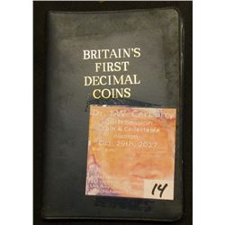 """Britain's First Decimal Coins"", Five-piece Set, Brilliant Uncirculated."