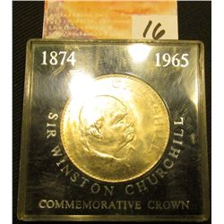 Encased 1965 Churchill Crown, Brilliant Uncirculated.