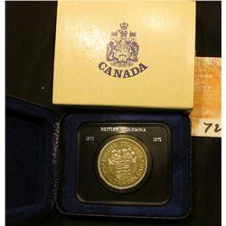 1871-1971 British Columbia encased Dollar in original box of issue. Brilliant Uncirculated.