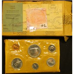 "1867-1967 Canada ""Confederation"" Uncirculated Coin Mint Set in original cellophane, envelope, and sh"