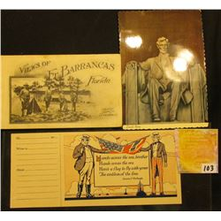 """World War I Era """"Views of Ft. Barrancas Florida"""", Postcard booklet published by J.G. Fiedeke, Jr.' L"""