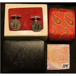 "(2) Decorative Jewelry Boxes, one with a pair of red tacks and the other ""Royal Canadian Mint"" with"