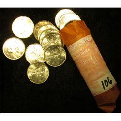 1966 Original BU Canada Silver Quarters in a paper wrapper. .800 fine Silver. (40 pcs.).