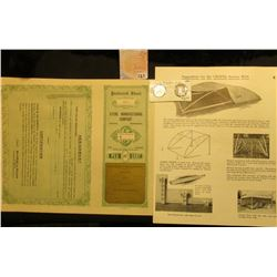"Circa 1917 era unissued Participating Preferred Stock Certificate with coupons ""Steril Manufacturing"