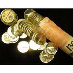 """1967 Original BU Roll of 1967 Canada """"Confederation Commemorative"""" .800 Fine Silver Dimes in a plast"""