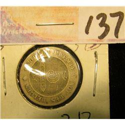 1862 Belgium Five Cent. VG.