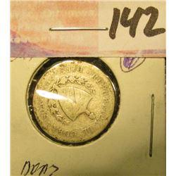 1915 Cuba .900 Fine Silver Ten Centavos.