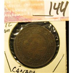 1901 Canada Large Cent, Brown AU.