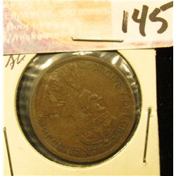 1916 Canada Large Cent, Brown AU.