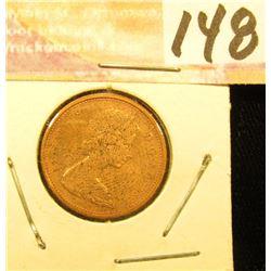 1965 Canada Cent, Red Gem Unc.