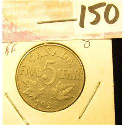 1928 Canada Nickel, EF.